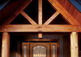 overhangs and low maintenance materials help protect exterior doors from the elements pictured