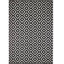 black and white geometric rug. colours harrietta black \u0026 white geometric rug (l)2.3m (w)1.6 m | departments diy at b\u0026q and