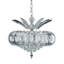 sigma chrome 5 light fitting with clear crystal prisms