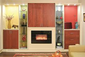 custom a center and fireplace wall unit organization system doors closed
