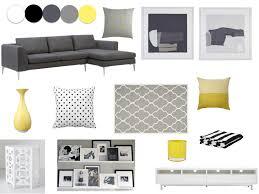 Yellow Living Room Decor Grey Yellow White And Black Living Room Our New Home