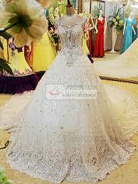 rhinestone wedding dress. Ball Gown Sweetheart Chapel Train Lace Big Rhinestones Wedding