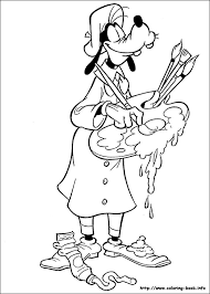 Goofy Coloring Pages On Coloring Bookinfo