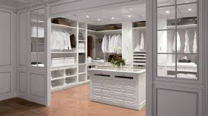 Modern Master Bedroom Closet Organization With Coffered Ceiling And Tiled  Floor Also Freestanding Storage