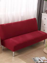 slipcover solid color red sofa protector home decorative armless sofa cover slipcovers linens at jolly chic