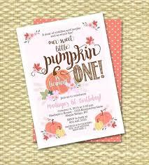 Pumpkin Invitations Template Pumpkin Birthday Invitation First By 1st Invitations Patch