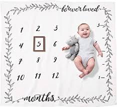 Amazon.com: Organic <b>Baby</b> Monthly <b>Milestone Blanket</b> Boy or Girl ...