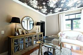 office ceiling ideas. Ceiling Wallpaper Ideas Black Floral On Office False
