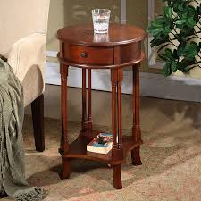 all things cedar cherry wood casual end table