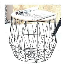 wire basket side table s kmart wire basket side table