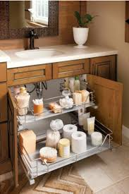 brilliant way to organize under the sink in a small bathroom 2 organized pull out