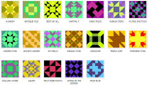 Preview the Online Quilt Block Pattern Library at Blockcrazy.com & Nine Patch Quilt Block Patterns Adamdwight.com