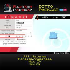 Buy ALL Ditto Natures for Sword and Shield with 6IV! - Rawkhet Pokemon