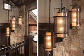 industrial chic lighting. Industrial Chic Pendants, Crafted From Steel, Woven Mesh And Mica, Underscore The Incredible Lighting N