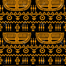 Tribal Art Egyptian Vintage Ethnic ...