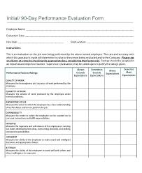 Simple Performance Appraisal Form Employees Performance Al