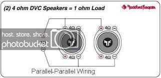 wiring a quad voice coil sub to a 2 channel amp scionlife com if not then you can wire two sets of coils in series then parallel the two series together series parallel wiring would yield a 4 ohm load