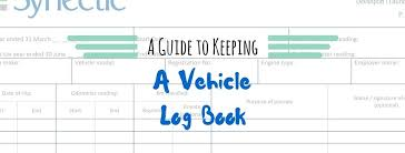 Logbook Samples Keeping A Vehicle Log Book Plus Your Free Template Synectic Group
