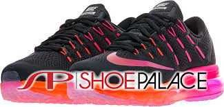 nike running shoes 2016 red. max 2016 low womens running shoe (black/noble red/bright crimson) nike shoes red s