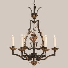 6 light brittney chandelier by paul ferrante for home lighting idea