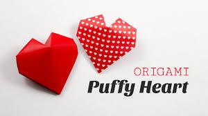 origami puffy heart instructions 3d paper heart diy paper kawaii you