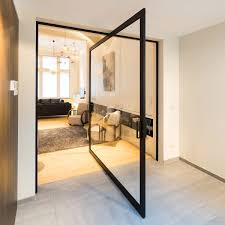 pivot hinge door. indoor door / two-way pivoting with central axis aluminum skd47 black pivot hinge