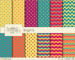 Patterns New Brights Digital PatternsPaper Pack SoFontsy
