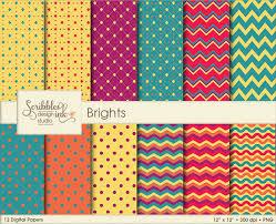 Patterns New Brights Digital PatternsPaper Pack SoFontsy