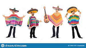 Mexikanische Musiker Beim Cinco De Mayo ...