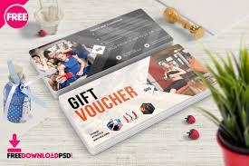 Gym Fitness Voucher Template Psd Freedownloadpsd Com