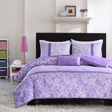 attractive light purple and white bedding set ideas