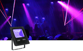 digoo st 8 20w uv flood light with cob led ip65 waterproof black lights for outdoor neon glow party