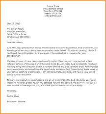 Preschool Education Cover Letter Early Childhood Cover Letter
