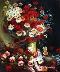 vase with poppies cornflowers peonies and chrysanthemums van gogh painting