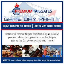Buy Premium Tailgate Game Day Party Baltimore Ravens Vs