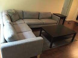 ikea karlstad l shaped sectional for