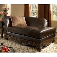 North Shore Dark Brown Left Corner Chaise Signature Design by