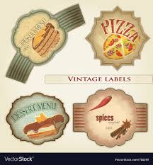 Vintage Food Labels Vintage Food Labels Set Royalty Free Vector Image