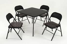 dining room black folding table and chairs folding table and 6 inside card table and chair
