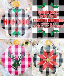 Beaded Christmas Ornaments Patterns Impressive Buffalo Check Perler Bead Christmas Ornaments Design Dazzle