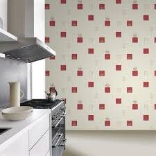 rasch tile pattern café coffee cake restaurant kitchen vinyl washable wallpaper 888126