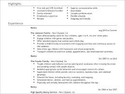 Template Strand Vs Coding Nanny Resume Example Good Cover Letter