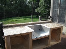 To Build Outdoor Kitchen  Tbootsus - Outdoor kitchen countertop ideas