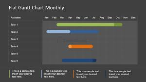 Powerpoint Gantt Chart Monthly Schedule Slidemodel