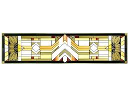 horizontal stained glass panels mission style craftsman stained glass panel x home design 3d