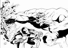 Iron man is the new favorite super hero of the 2010′s boys. Marvel Superhero Iron Man Versus The Hulk Fighting Coloring Page For Kids Printable