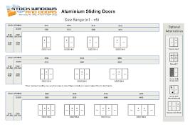 sliding patio door sizes
