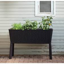 Keter Easy Grow Brown Patio Garden Flower Plant Planter Raised Elevated  Garden Bed - Free Shipping Today - Overstock.com - 18916759