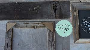 how to make a frame from reclaimed wood
