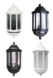 asd half lantern black or white standard pir well liked half lantern outside wall